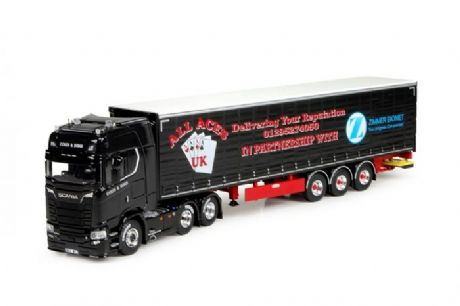 "Tekno Coles & Sons Scania S580 6x2 Tag With Curtainside trailer ""Lady Luck"""
